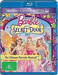 BARBIE AND THE SECRET DOOR BLU RAY & DVD - NEW & SEALED VERY RARE FREE POST