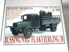 BUSSING NAG/ FLAKVIERLING 38 Wespe Models 1:48 SCALE - resin kit 48131