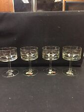 CRYSTAL AVITRA CHAMPAGNE/SHERBET 4 GLASSES! STUNNING! TAGS! HOMEMADE VINTAGE!!!