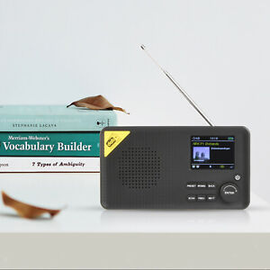 Digital Radio FM Receiver LCD Display 9 Language Choice Home Office Outdoor