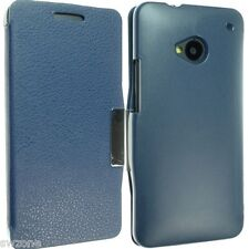 FOR HTC ONE M7 PHONE LEATHER CASE COVER WALLET POUCH FLIP BACK SKIN SOCK LUXURY