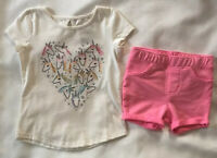 Jumping Beans Pink Bike Shorts Girls Size 2T New