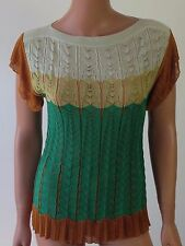 MISSONI Multicolor Women's Sleeveless Cotton 52% Rayon 48% Blouse Sz 40