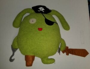 "2013 Gund Uglydolls #10487 Pirate Ox 13"" Green Plush t3"
