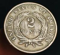 1868 US Two Cent Piece 2C High Grade COUNTERSTAMP War Era US Copper Coin CS3316