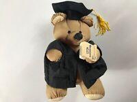 Gibson Graduate Bear VTG 1994 Plush Teddy Cap Gown Tassel 90s Graduation Gift