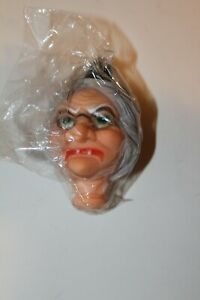 Vintage Witch Doll Head Rubber 4.5 x 2.5
