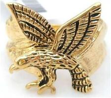 18K GOLD EP MENS FLYING EAGLE DRESS RING size  10 or T 1/2