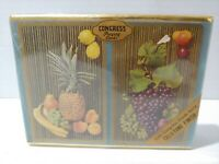 Vintage Congress Cel-u-Tone Double Deck Playing Cards Made In USA -Fruit