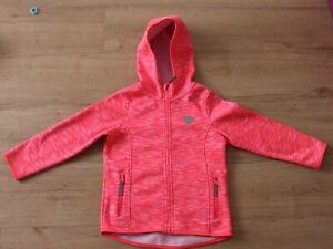 Softshell Jacke Mädchen pink neon Gr. 128 Topolino