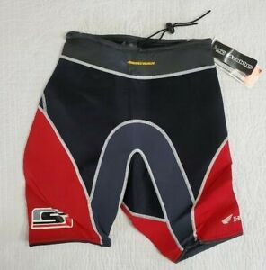 NEW Honda Aquatrax Slippery Formula Jetski Wetsuit Shorts Black/Red Sz M