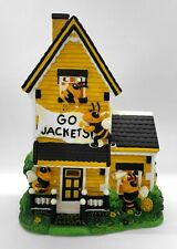 "Slavic Treasures Georgia Tech ""Go Jackets!"" Mascot Lighted Porcelain House"