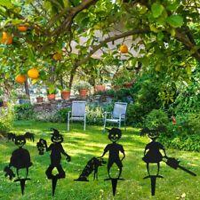 Corpse Girl Boy Metal Silhouette Garden Stake Yard Ornament Home Halloween Decor