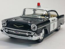 "New 5"" Kinsmart 1957 Chevrolet Bel Air Police Car 1:40 Chevy Cop Diecast Model"