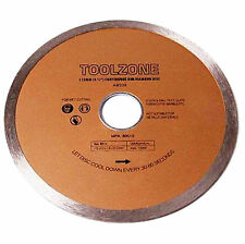"""115mm Diamond Cutting Continuous Rim Blade For Ceramic Marble Tile Disc Saw 4.5"""""""
