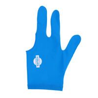 Blue Spandex Left hand Snooker Billiards Glove 3 Finger for Pool Cue Sticks