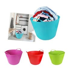 15 Litre Toy Basket Laundry Clothes Flexi Washing Hamper Plastic Flexible Trug