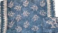 Sarong/Pareo/Wrap - Blue with dolphins batik - handmade in Bali - Hary Dary