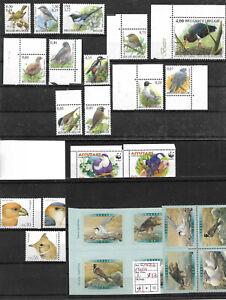 Motiv Vögel, Auswahl postfrischer Marken, Sätze, Block WO-01/06