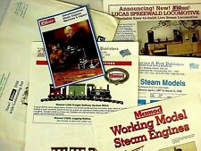 TWO Vintage Model Steam Engines & Toys Catalogs - 1990s Wilesco, Mamod, more
