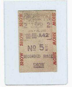 RARE - ARLINGTON PARK HORSE RACING BETTING TICKET DATED 1934 - ILLINOIS