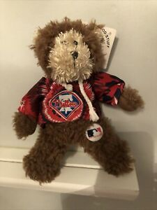 "PHILADELPHIA PHILLIES Baseball MLB TEDDY BEAR 8"" Plush STUFFED ANIMAL NEW"