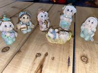 Nativity Dreamsicles Giftco 2001 Polystone Mini Nativity Ornaments 6 Piece Set