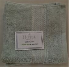 Nwt Hotel Made In Green 3 Mint Green Cotton Washcloth Towel
