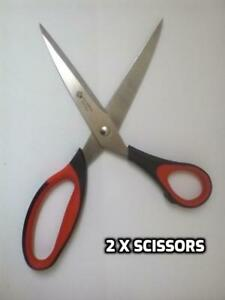 """Set of 2 x Sewing Scissors Solid Chunky 22 cm 8.5"""" Dressmaker Fabric Tailors"""