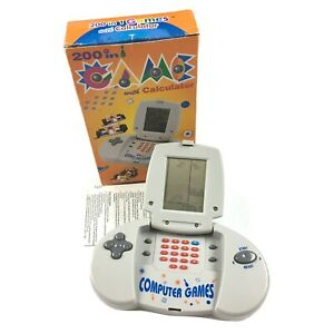 200 In 1 Game With Calculator Retro Handheld Brick Games In Box Tested Working
