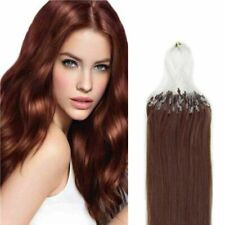 Ugeat 16 Inch Micro Ring Human Hair Extensions 50Gram - Straight - #33 - 16""
