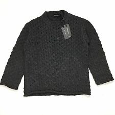NWT $1.6k Dolce & Gabbana Men's RUNWAY Chain Mail Heavy Knit Sweater S AUTHENTIC