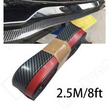 "Universal 100"" Carbon Fiber Front Bumper Lip Splitter Chin Spoiler Body Kit Trim"