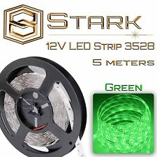 Waterproof 5M 16ft - 3528-SMD 300 Lights Color LED Strip 12V - Green