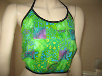 Batik Patchwork Festival top Tie dyed Pink Blue Green Hippy Boho Party Holiday