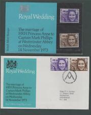 Royal Wedding HRH Princess Anne - Captain Mark Phillips  + FDC 1973 j.54