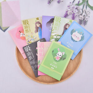 100 Sheets/Box Oil Blotting Paper Facial Face Makeup Clean Oil-absorbing PaY^mx