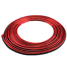 Red 5M DIY Decorative Flexible Strip Trim Molding Line for Car Interior Exterior