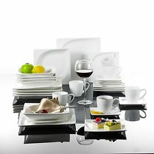 30PCS Porcelain Crockery Ceramic China White Dinner Service Set Cups Plates