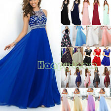 Women's Long Lace Evening Formal Cocktail Party Ball Gown Prom Bridesmaid Dress
