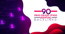 Manual 90 SEO Backlinks On Pr10, Da100, Tf100 Unique Domains- Premium Package