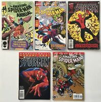 Amazing Spider-Man Annual #s 18, 24, 2000, 2001, and 36 Lot of 5 Marvel Comics