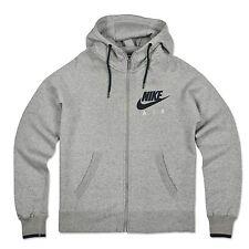 Nike Swoosh Air sudadera polar Jersey con capucha club chaqueta gris claro XL