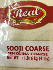 Semolina Coars Fine Sooji Suji Rava Wheat Farina 4 lb SATISIFACTION GUARANTEE