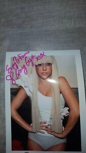"Lady GaGa Autogramm mit Widmung ""Enjoy the Fame"" original signiert"