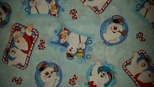LINED VALANCE 42X15 CHRISTMAS FROSTY THE SNOWMAN SANTA SNOWFLAKE WINTER