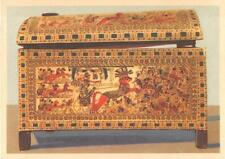 TUTANKHAMUN TREASURE WOODEN CHEST EGYPT POSTCARD