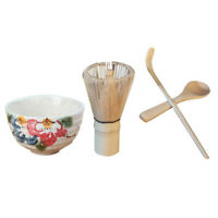 Japanese Bamboo Chasen Matcha Tea Whisk & Ceramic Bowl & Tea Scoop & Spoon