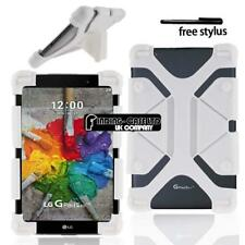 """Soft Silicone Stand Cover Case For Various 7"""" 8"""" LG G Pad Tablet + Stylus"""