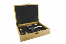 Grunwerg Professional Deluxe Corkscrew Set In Bamboo Box 2CS/BB